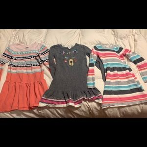 4 Gymboree size small (6-7) sweater dresses